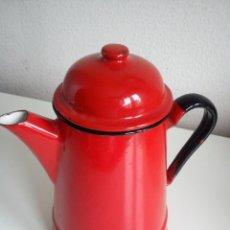 Antigüedades: PRECIOSA Y MUY ANTIGUA CAFETEYRA DE ESMALTE PARA CAFE DE CHARLINGALCE..DOS ANOS 40.50.BUENE ESTADO. Lote 42531624