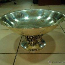 Antigüedades: FRUTERA DE METAL BAÑADA EN PLATA. Lote 42532608