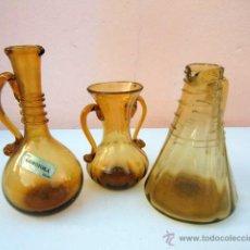 Antigüedades: 3 PIEZAS DE GORDIOLA, CRISTAL SOPLADO. Lote 42535621
