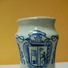 Antigüedades: ALBARELO DE TALAVERA CON ESCUDO. Lote 42536226