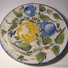 Antigüedades: GRAN PLATO CERAMICA DE RIBESALBES XIX . Lote 42542476