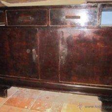 Antigüedades: APARADOR TIPO MODERNISTA EN MADERA, PARA RESTAURAR.. Lote 137479613