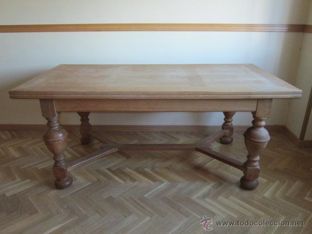 estupenda mesa de comedor en madera de roble de - Comprar ...