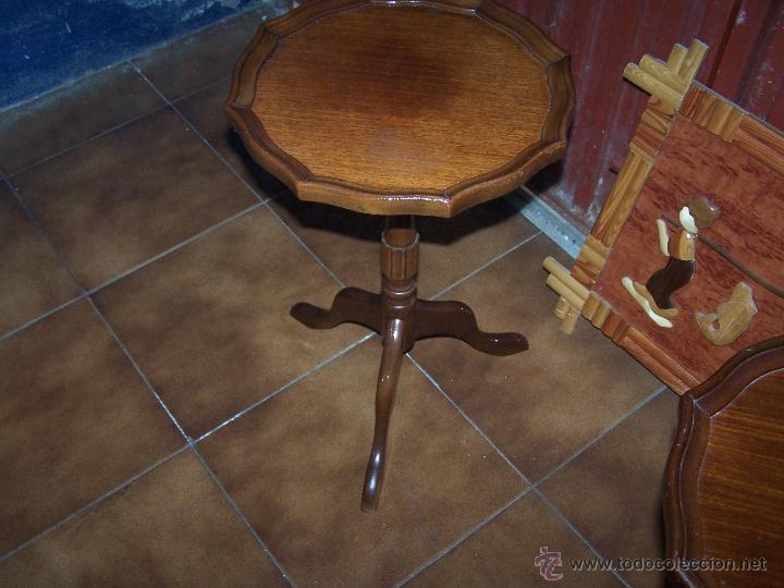 Antigüedades: Dos mesas de te inglesas antiguas muy bien conservadas - Foto 3 - 42551319