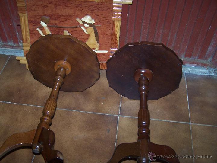 Antigüedades: Dos mesas de te inglesas antiguas muy bien conservadas - Foto 8 - 42551319