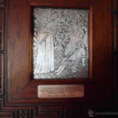Antigüedades: CUADRO FARMACIA APLIQUE EN PLATA DE LEY. Lote 42566340
