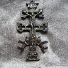 Antigüedades: CRUZ DE CARAVACA.MEDIDA 125MM.. Lote 42573940
