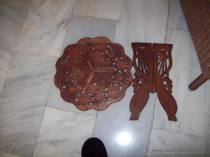 Antigüedades: Mesa pequeña inscrustaciones nacar altura 40cm diametro 37cm - Foto 5 - 40916905
