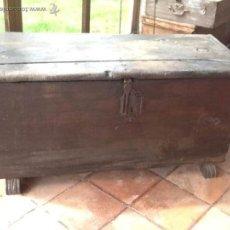 Antigüedades: ARCA ANTIGUA DE MADERA. Lote 42593103