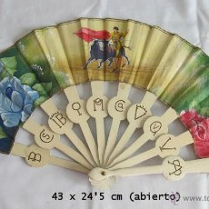 Antigüedades: ABANICO ANTIGUO CASA SEVILLA CADIZ TOROS DIVISAS. Lote 42598706