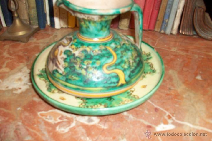 ANTIGUO JARRON Y PLATO (Antigüedades - Porcelanas y Cerámicas - Puente del Arzobispo )