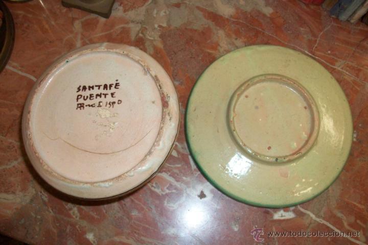 Antigüedades: ANTIGUO JARRON Y PLATO - Foto 4 - 42600877