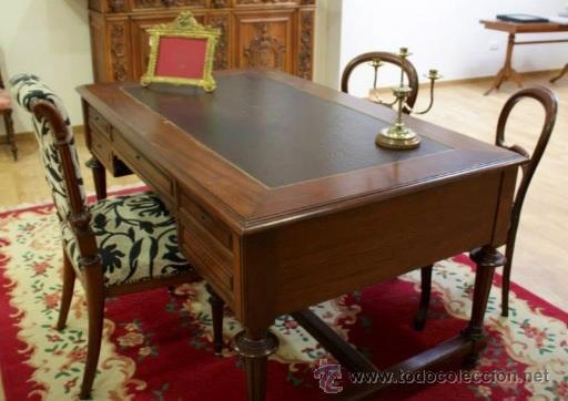 Mesa despacho inglesa en caoba comprar mesas de despacho - Mesas de despacho ...