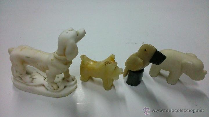 Antigüedades: Cuatro figuras de animales en piedra dura. - Foto 3 - 42606094