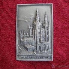 Antiquitäten - Placa de plata de la Catedral de Burgos. - 42612084
