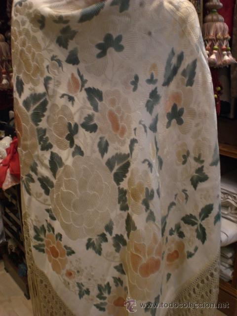 Antigüedades: Manton brocado - Foto 2 - 42619115