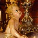 Antigüedades: ANTIGUO NIÑO JESUS EN YESO OJOS DE VIDRIO. Lote 42620720