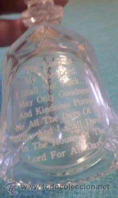 Antigüedades: Preciosa campana de cristal,con una oración religiosa y las manos alzadas para rezar.Religiosa. - Foto 3 - 42622148