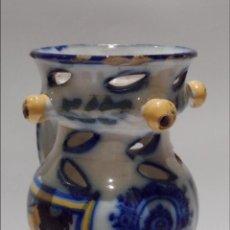 Antigüedades: JARRA BURLADERA O ENGAÑO. VIRGEN DEL PRADO - CERÁMICA DE TALAVERA - TOLEDO. S.XIX. Lote 42566123