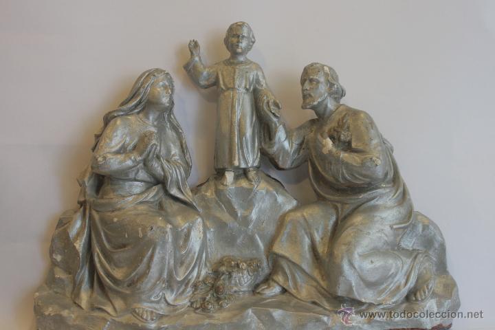 SAN JOSÉ, VIRGEN MARÍA Y NIÑO JESÚS (Antigüedades - Religiosas - Varios)
