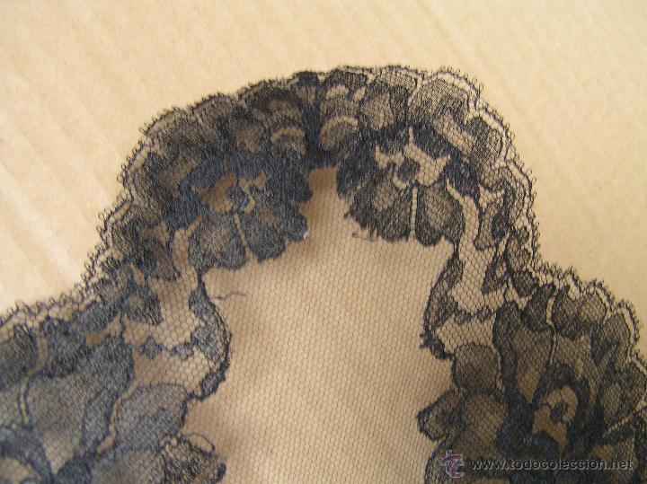 Antigüedades: ANTIGUA MANTILLA O VELO DE MISA .CHANTILLY. SIGLO XIX - Foto 10 - 49898187