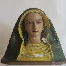 Antigüedades: VIRGEN . PEANA DE MADERA. Lote 42629072