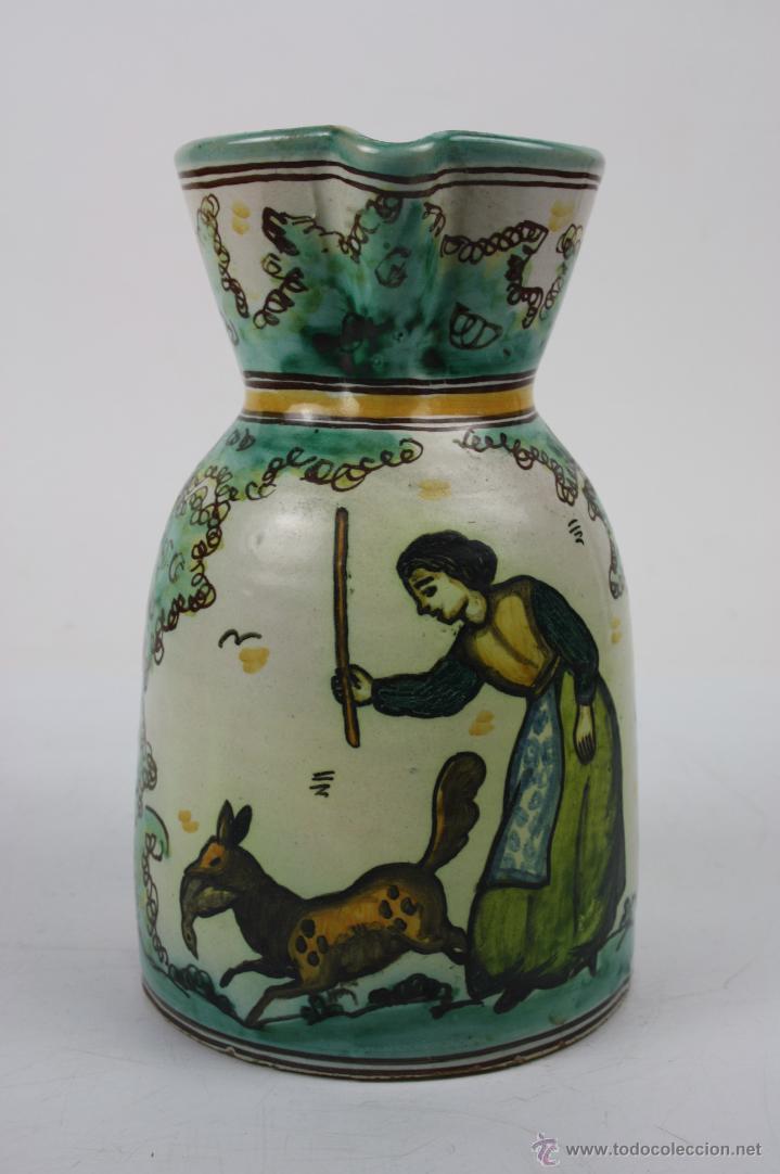 JARRA EN CERÁMICA DEL ARZOBISPO - FIRMADA SANGUINO - PRINCIPIOS S.XX (Antigüedades - Porcelanas y Cerámicas - Puente del Arzobispo )