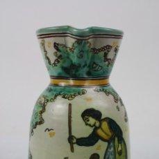 Antigüedades: JARRA EN CERÁMICA DEL ARZOBISPO - FIRMADA SANGUINO - PRINCIPIOS S.XX. Lote 42645967