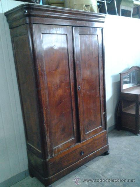 Aparadores Para Quarto De Casal ~ armario antiguo de caoba y pino, sobre 1870 Comprar Armarios Antiguos en todocoleccion 42658302