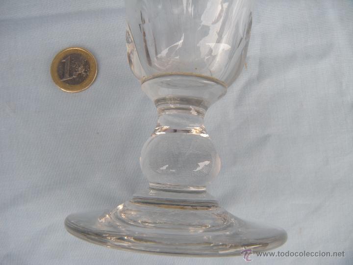 ANTIGUA COPA FLORERO TALLADO DE SANTA LUCÍA, CARTAGENA (Antigüedades - Cristal y Vidrio - Santa Lucía de Cartagena)