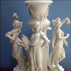 Antigüedades: ANTIGUO CENTRO DE PORCELANA BISCUIT MEISSEN.ALEGORÍA DE LAS 4 ESTACIONES.. Lote 33686670