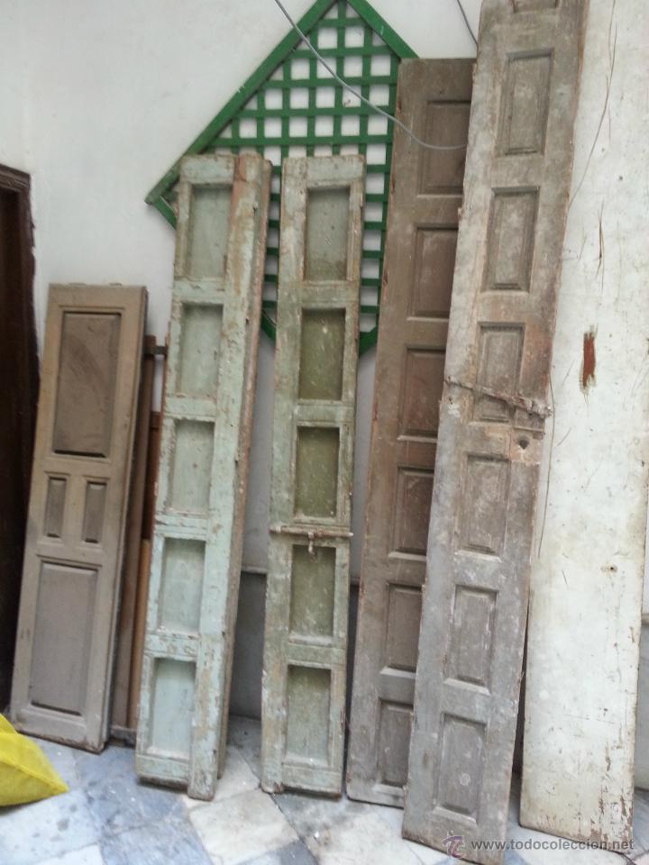 Lote de 6 antiguas puertas todas madera para comprar for Reciclar puertas antiguas