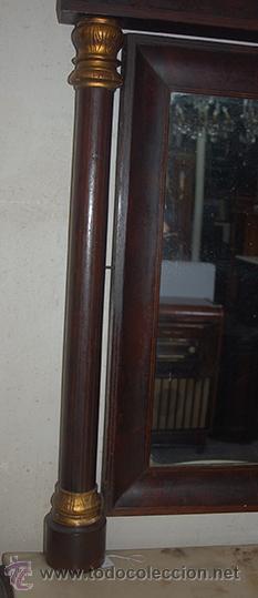 Antigüedades: Consola Isabelina - Madera de Jacaranda y Marquetería de Boj - Espejo - Mármol - S. XIX - Foto 2 - 42669042