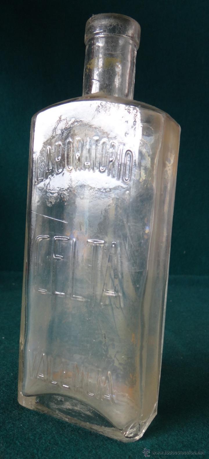 FRASCO FARMACIA - LABORATORIO CELTA - VALENCIA - (Antigüedades - Cristal y Vidrio - Farmacia )