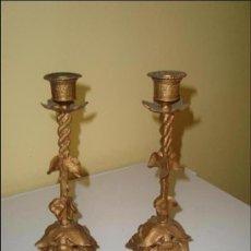 Antigüedades: JUEGO DE CANDELABROS. Lote 26445261