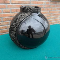 Antigüedades: JARRON DE BARRO FIRMADO. Lote 42683151