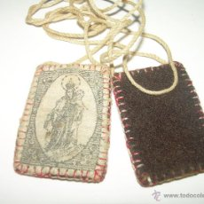 Antigüedades: ANTIGUO ESCAPULARIO DE TELA.. Lote 42708620