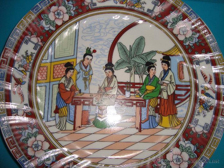 Antigüedades: DECORATIVO PLATO DE PORCELANA CHINA , DIAMETRO 25CM. - Foto 2 - 42714279