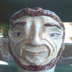 Antigüedades: ANTIGUA BOTELLA CERAMICA PINTADA A MANO. FIRMADA AZAILA. Lote 42715993