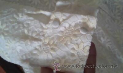 Antigüedades: Antiguo vestido con estampado de flores blanco y amarillo.Años 50/60 - Foto 6 - 42717437