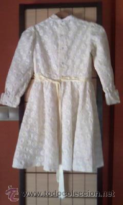 Antigüedades: Antiguo vestido con estampado de flores blanco y amarillo.Años 50/60 - Foto 7 - 42717437