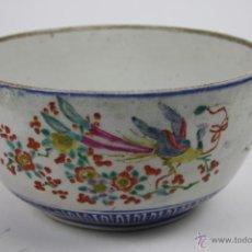 Antigüedades: BOL CHINO EN CERÁMICA PINTADA A MANO - FINALES XIX - PRINCIPIOS XX. Lote 117680054