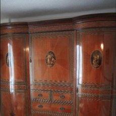 Antigüedades: ARMARIO ARTESANAL EN MADERA NOBLE. Lote 39043374