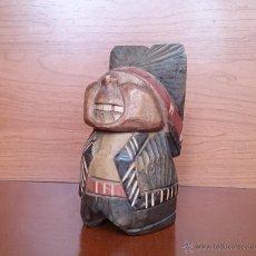 Antigüedades: ANTIGUA Y ORIGINAL TALLA EN MADERA DE INDIO ERÓTICO .. Lote 42763195