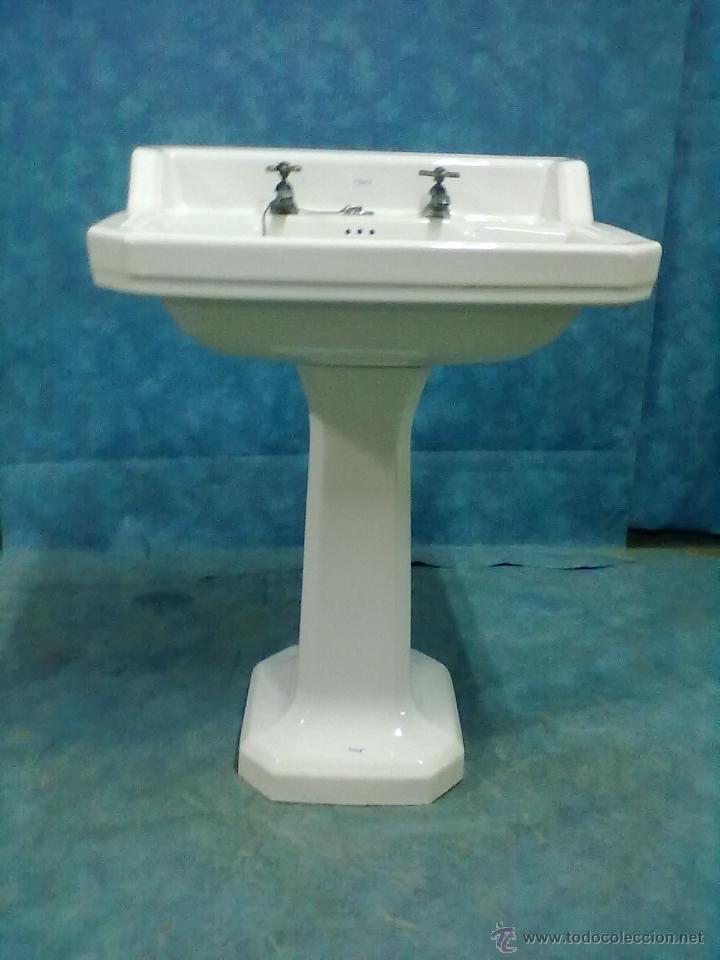 Lavabo con pie roca a os 50 comprar muebles auxiliares for Muebles de lavabo con pie