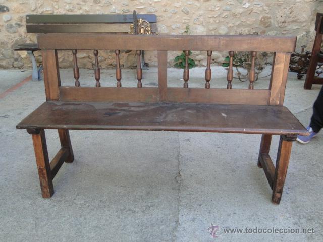 precioso banco madera de nogal, mide 150 x 45, - Comprar Muebles ...