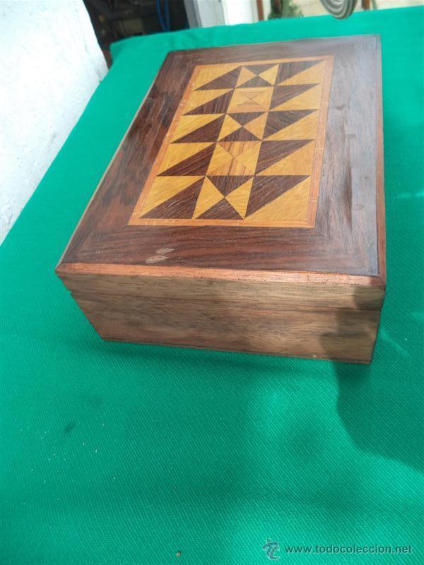 Antigüedades: caja con marqueteria - Foto 2 - 42773546
