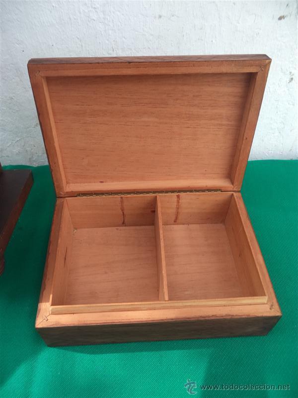 Antigüedades: caja con marqueteria - Foto 3 - 42773546