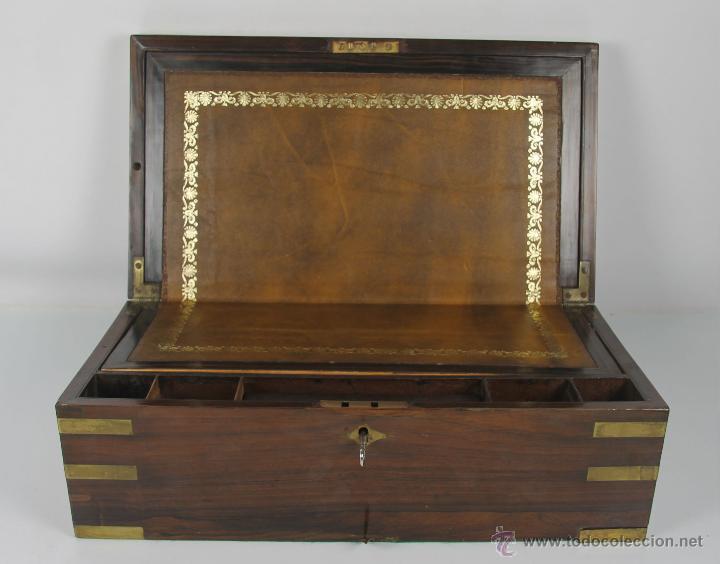 Escribania de barco en madera de palisandro y comprar for Palisandro muebles