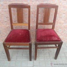 Antigüedades: PAREJA DE SILLAS. Lote 42773935